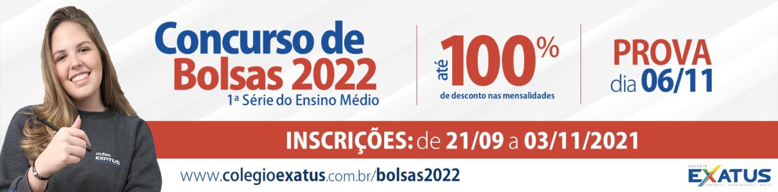 Concurso de Bolsas 2022 - Exatus Colégio e Vestibulares